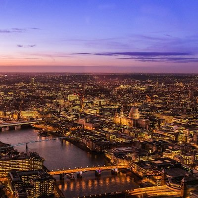 London City at dusk