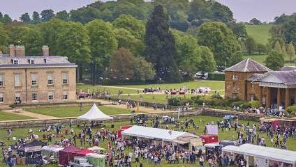 Birds eye view of Althorp Food & Drink Festival taken with drone