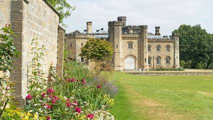 Chiddingstone Castle and garden in Kent