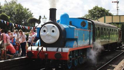 Thomas the Tank Engine in a Day Out with Thomas at Watercress Line