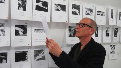 Image of internationally acclaimed visual artist and composer Christian Marclay, composer in resident for the Huddersfield Contemporary Music Festival