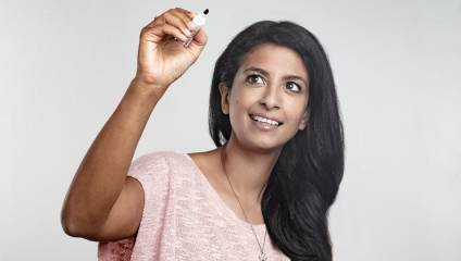 SCIENCE SHOW: Author, actress and television presenter Konnie Huq
