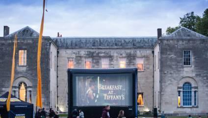 Breakfast at Tiffany's open air cinema screening at sundown