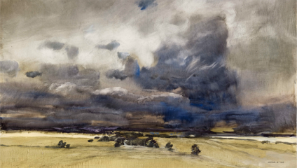 Storm over the Grampians, 2015, oil on board, ©  James Morrison | Eye of the Storm
